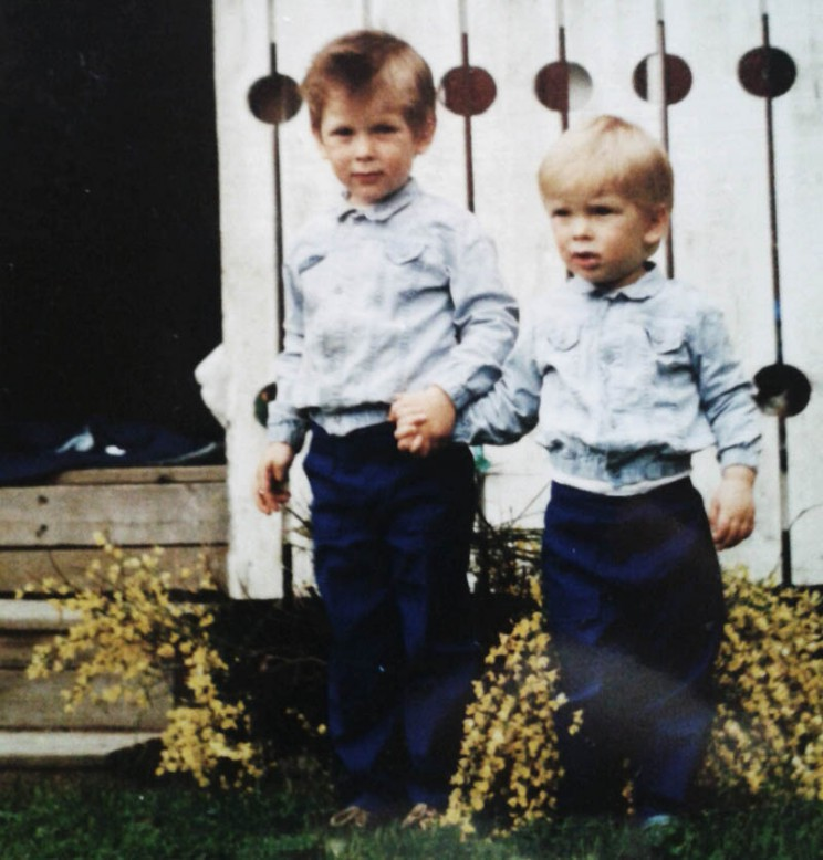 Daniel and Mikael in 1980's